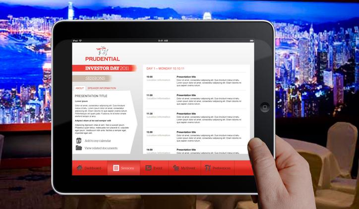 PRU Mobile App SessionList